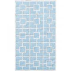 The Rug MarketKids Labyrinth11519BBlue-White