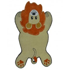 The Rug MarketKids Lion16490BGold-Orange