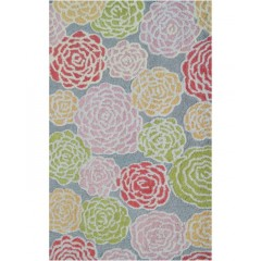 The Rug MarketKids Multi Rose16488BGray-Pink-Green