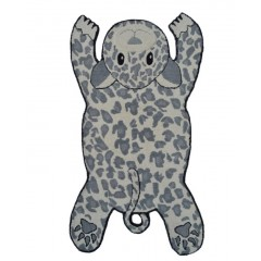 The Rug MarketKids Panther16492BIvory-Gray