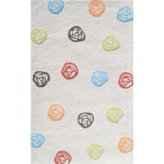 The Rug MarketKids Scribble Dot71106DCream Multi