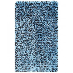 The Rug MarketKids Shaggy Raggy02260BBlue-Brown