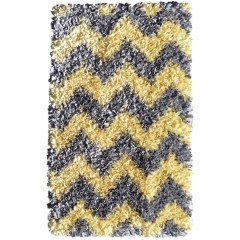 The Rug MarketKids Shaggy Raggy02289BYellow-Grey