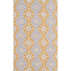 The Rug MarketNantucket 25490DGray-Yllw-Cream