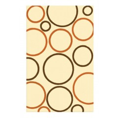 The Rug MarketOxygen 11517DIvory-Rust-Brwn