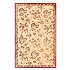 The Rug MarketPersian Roses 41020CBurgndy-Tan