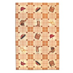 The Rug MarketPolo 16307EBeige-Red-Brown