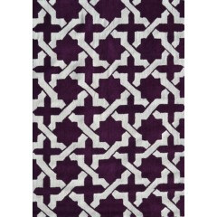 The Rug MarketPop Accents EtchyPA0110DAubergine-White