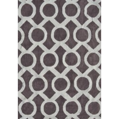 The Rug MarketPop Accents MedalPA0078Taupe-White