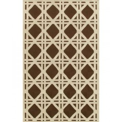The Rug MarketResort Cane25206DBrown-Ivory