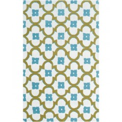 The Rug MarketResort Salisbury25395DCream-Blue-Grn
