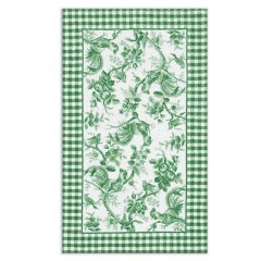 The Rug MarketRooster Toile 16154DGrn-Wht