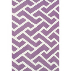 The Rug MarketSawyer 25450DPurple-White