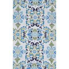 The Rug MarketSeriano 25549DWhite-Blue-Grn