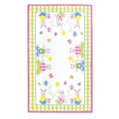 The Rug MarketSitting In The Park 12279DPink-Lime-White