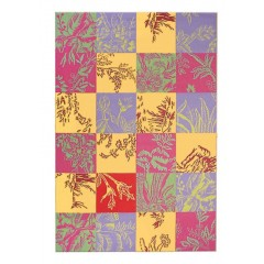 The Rug MarketToile Quilt 16304EYlw-Coral-Lilac