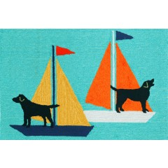 Trans OceanFrontporch1402/03 Sailing Dogs Blue