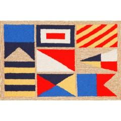 Trans OceanFrontporch1403/12 Signal Flags Natural