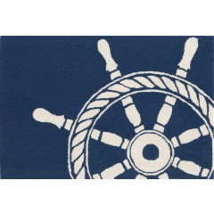Trans OceanFrontporch1456/33 Ship Wheel Navy