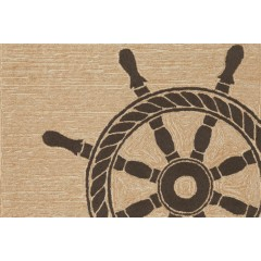 Trans OceanFrontporch1456/48 Ship Wheel Black