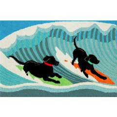 Trans OceanFrontporch1473/04 Surfing Dogs Ocean