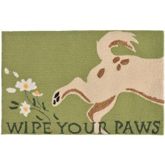 Trans OceanFrontporch1522/06 Wipe Your Paws Green