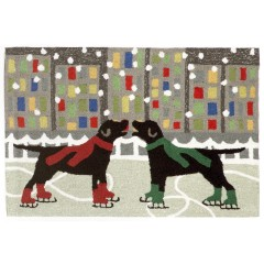 Trans OceanFrontporch1526/44 Holiday Ice Dogs Multi