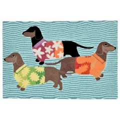 Trans OceanFrontporch1583/44 Tropical Hounds Multi