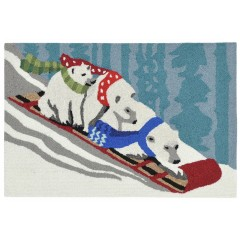 Trans OceanFrontporch1852/11 Toboggan Bears Snow
