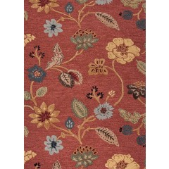 Jaipur RugsBlueGarden Party BL05Red-Multi