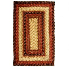 HomespiceJute BraidedRussettBeige - Red