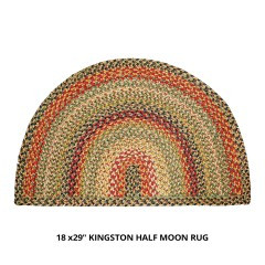 HomespiceJute BraidedHalf Moon KingstonBeige