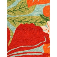 Jaipur Rugs Coastal Lagoon Luau COL20 Green/Red