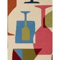 Jaipur Rugs Design Campus-Indoor Outdoor Clink DCI10 Ivory/Blue
